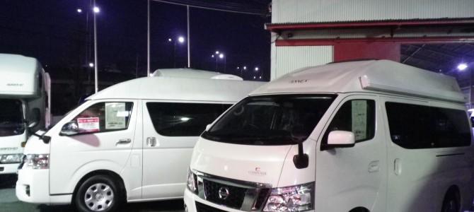 ファミリーワゴン納車準備とFRPハイルーフ車洗車