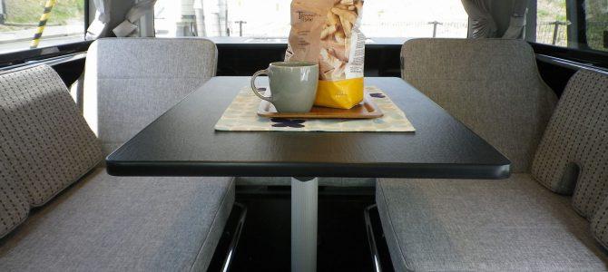 テーブルの回転&スライド機構