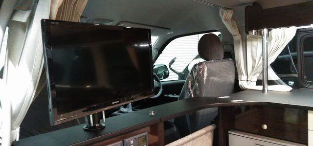 納車準備 テレビ取付